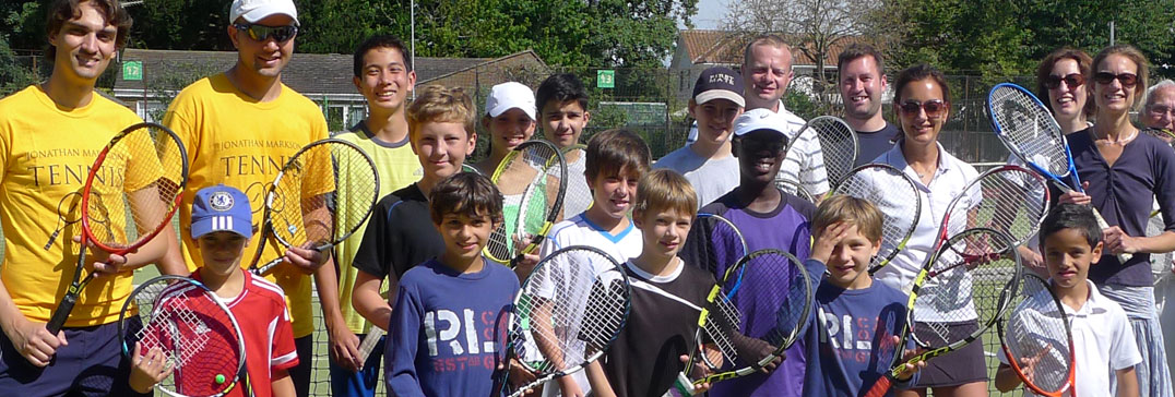 Kinder im Sommer Tenniscamp, London