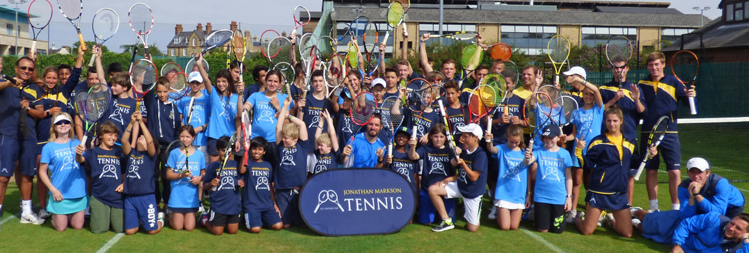 Spieler und Trainer, Tennis-Camp Oxford
