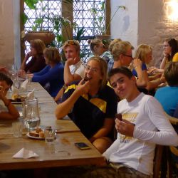 Abendessen im Oxford Tennis Camp