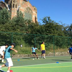 Kinder laufen, tennis-camp
