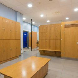 Changing rooms at Bisham Abbey Tennis Centre