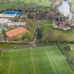 Aerial view of Bisham Abbey Tennis Centre