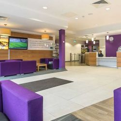 Reception area for the tennis centre, Bisham Abbey